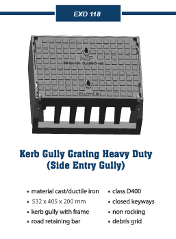 kerb gully grating Covers and frames