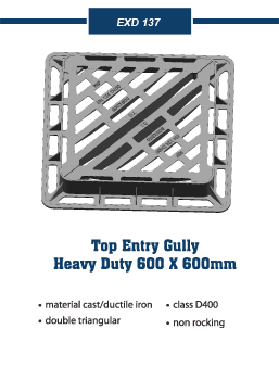 top entry gully Covers and frames